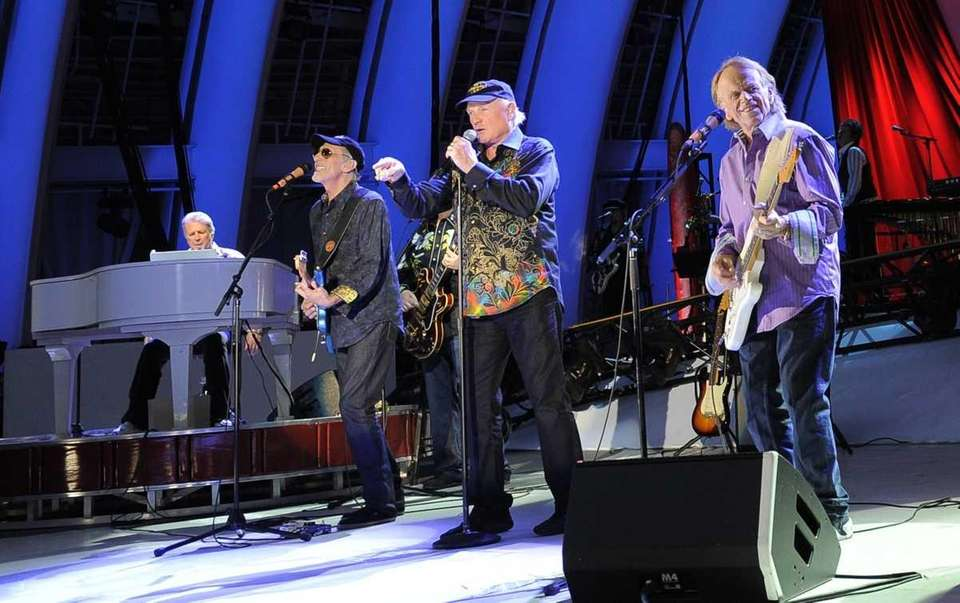 From left, Brian Wilson, David Marks, Mike Love