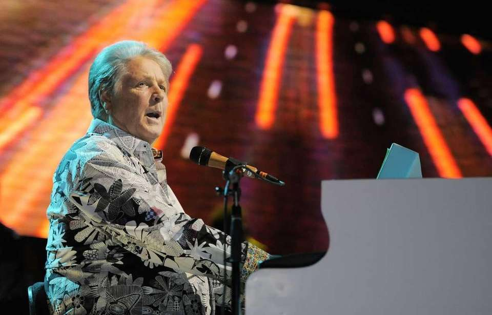 Brian Wilson of The Beach Boys performs during