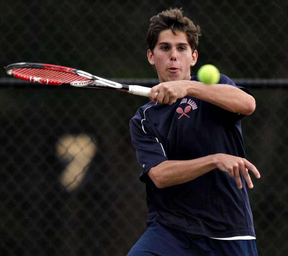 Cold Spring Harbor's Brett Titcomb makes the forehand