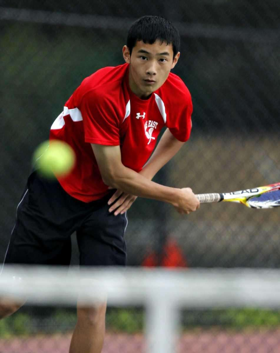 Half Hollow Hills East's Roger Cheng with the