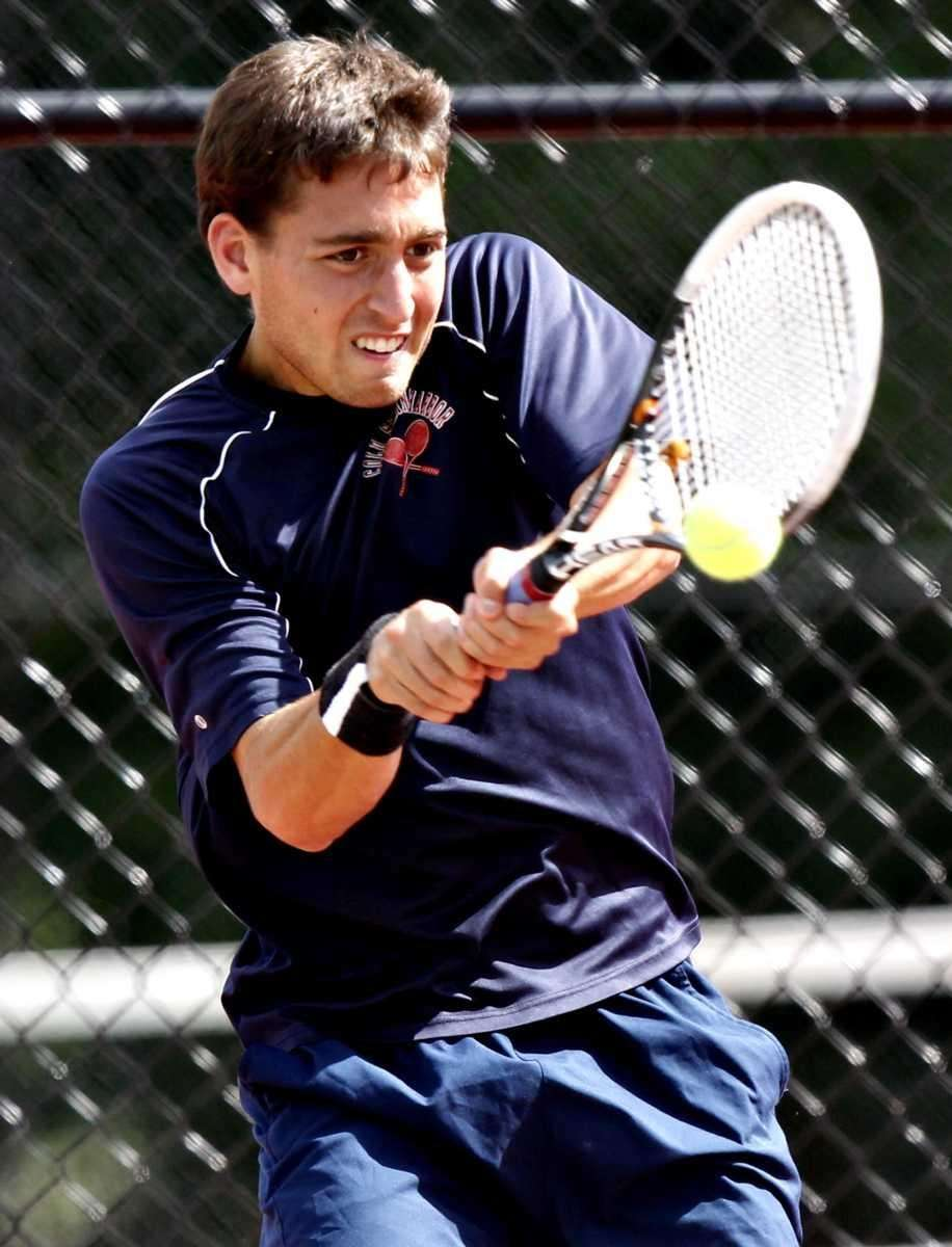 Cold Spring Harbor's Josh Levine with the backhand