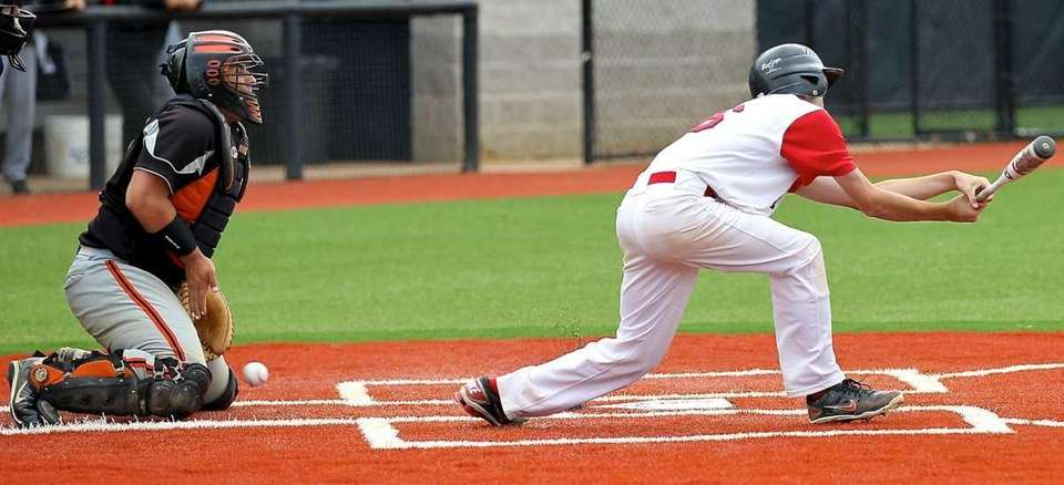 East Rockaway catcher Ben Giliberti #8 can't stop