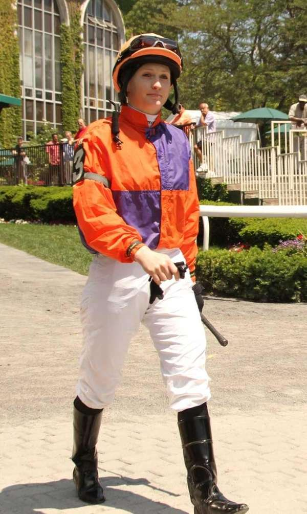 Rosie Napravnik, a female jockey who will be