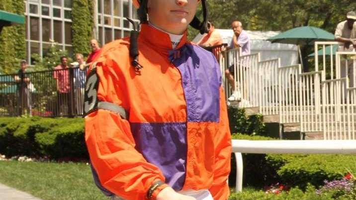 Rosie Napravnik, a female jockey who will be