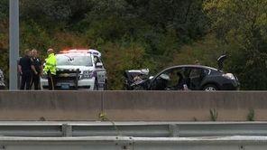Acrash involving a Suffolk police cruiser and two