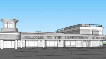 A rendering of how the Lindenhurst Memorial Library