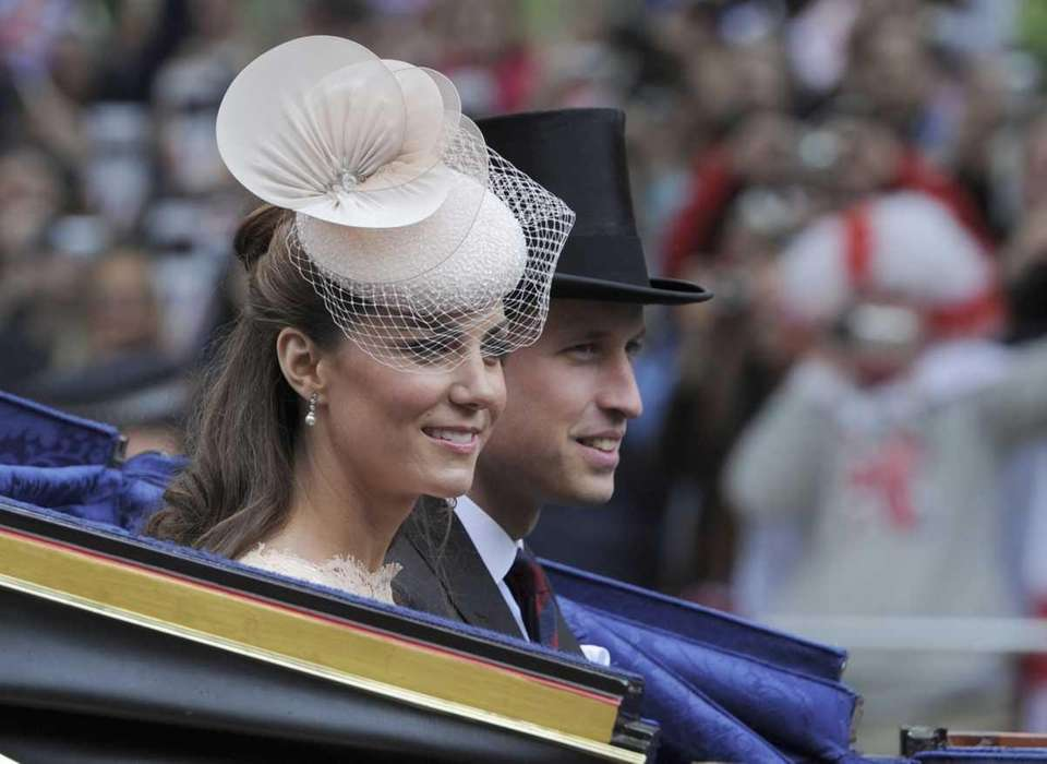 Britain's Prince William and Kate, the duchess of