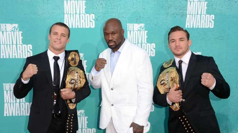 From left, Bellator MMA fighters Pat Curran, King