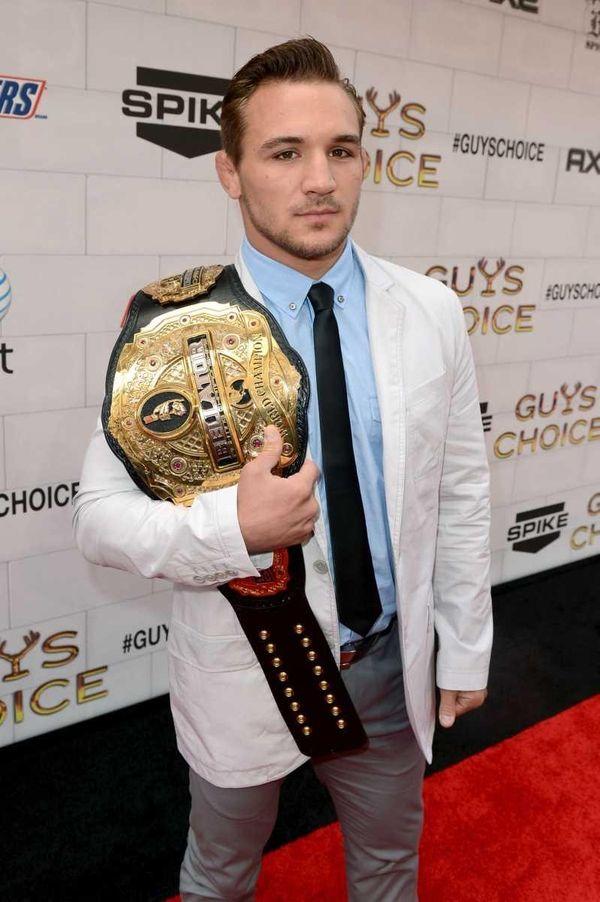 Bellator lightweight champion Michael Chandler arrives at Spike