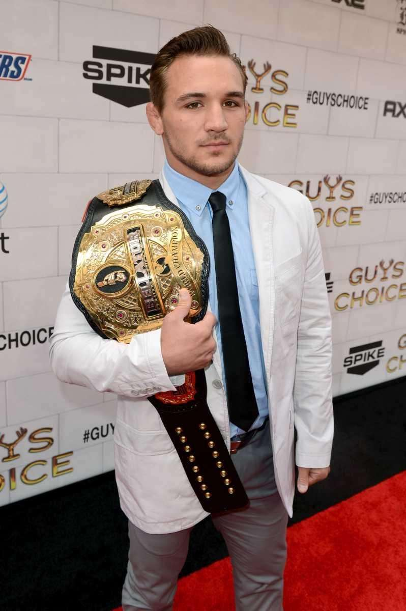 Bellator lightweight champion Michael Chandler arrives at Spike