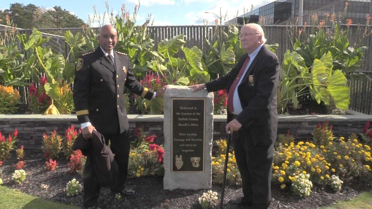 The Suffolk County Sheriff's Officeunveiled a monument outside