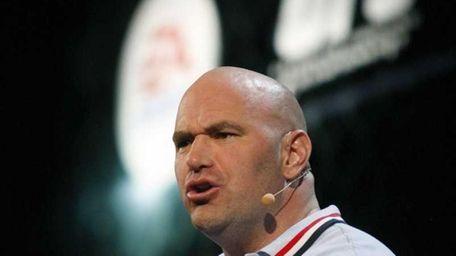UFC president Dana White addresses the EA press