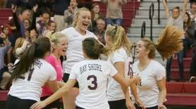Bay Shore celebrates a point in the first