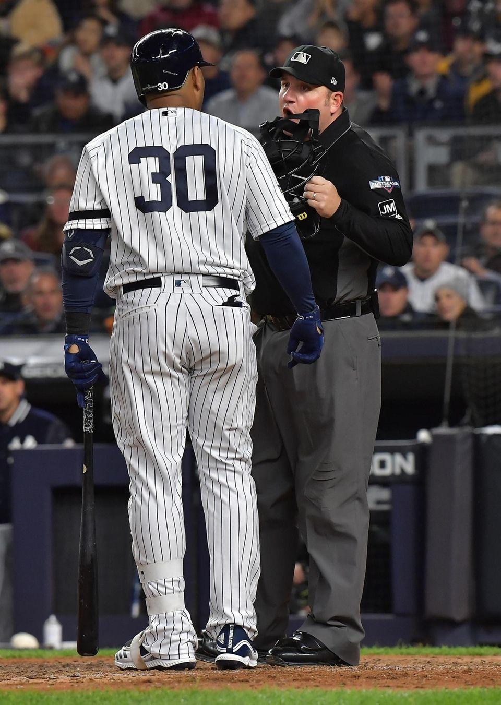 New York Yankees designated hitter Edwin Encarnacion (30)
