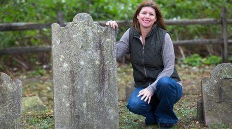 Shoreham genealogist Linda Metzger, seen here at Old