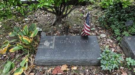 Middleweight boxing champion Rocky Graziano's headstone, at Locust