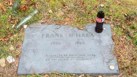 Poet Frank O'Hara, whose grave is seen in