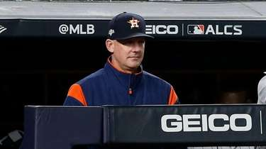 Manager AJ Hinch #14 of the Houston Astros