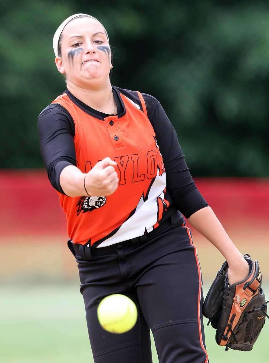 Babylon's Tiana Giuliano pitches during the Class B