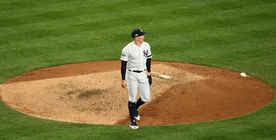New York Yankees relief pitcher Chad Green (57)