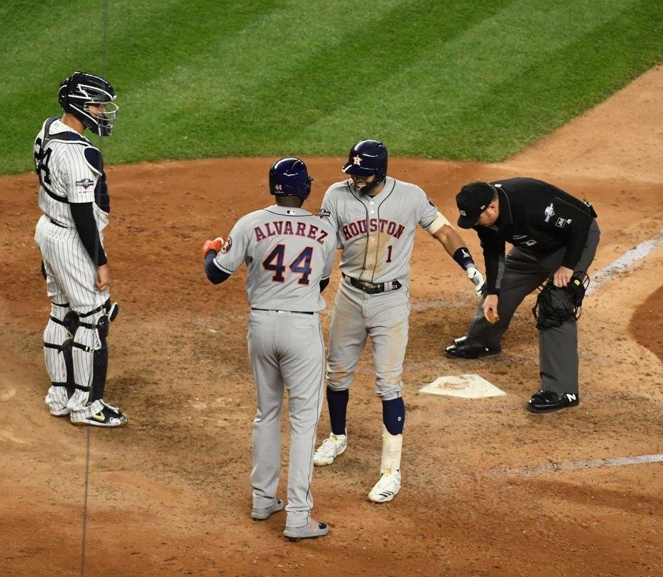 Houston Astros shortstop Carlos Correa (1) gets the
