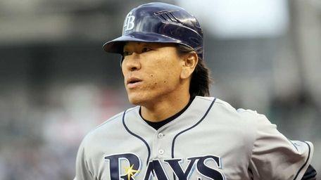 Hideki Matsui of the Tampa Bay Rays during