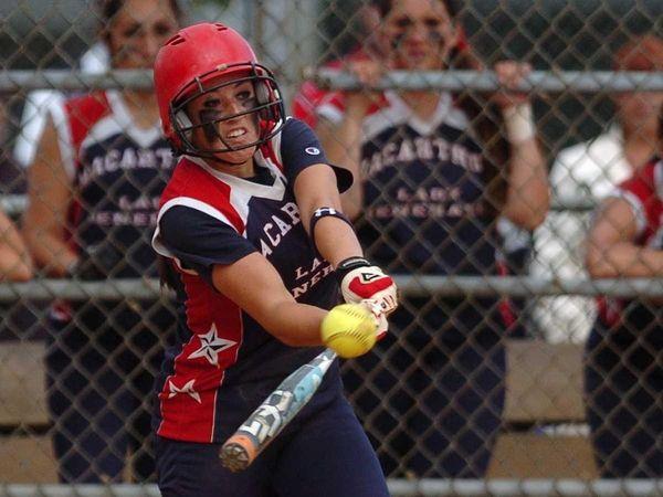 MacArthur's Kristen Brown hits a home run in
