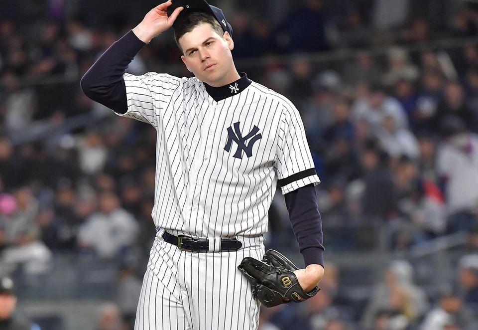 New York Yankees relief pitcher Adam Ottavino in