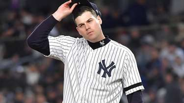 New York Yankees relief pitcher Adam Ottavino in