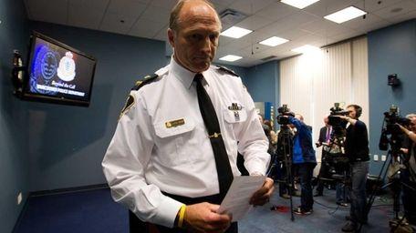 Vancouver Police Deputy Chief Warren Lemcke leaves a