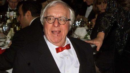 Science fiction writer Ray Bradbury smiles at the