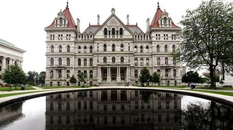 The New York State Capitol building is seen