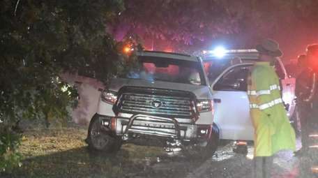 Officers followed a Toyota Tundra into Suffolk County