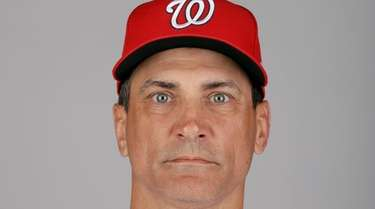Washington Nationals first base coach Tim Bogar at
