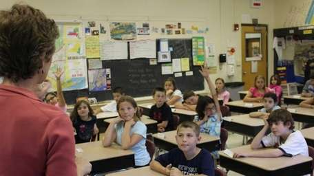 Students in Marie Smith's fourth-grade class at Eastport