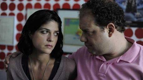 Jordan Gelbner and Selma Blair in