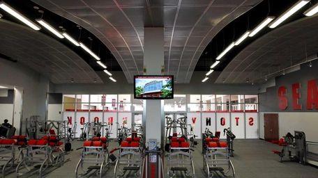 Inside the Dubin Family Athletic Performance Center. (June
