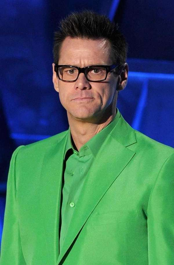 Jim Carrey onstage during the 2011 MTV Movie