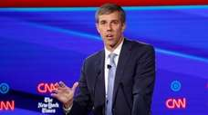 Democratic presidential candidate former Texas Rep. Beto O'Rourke