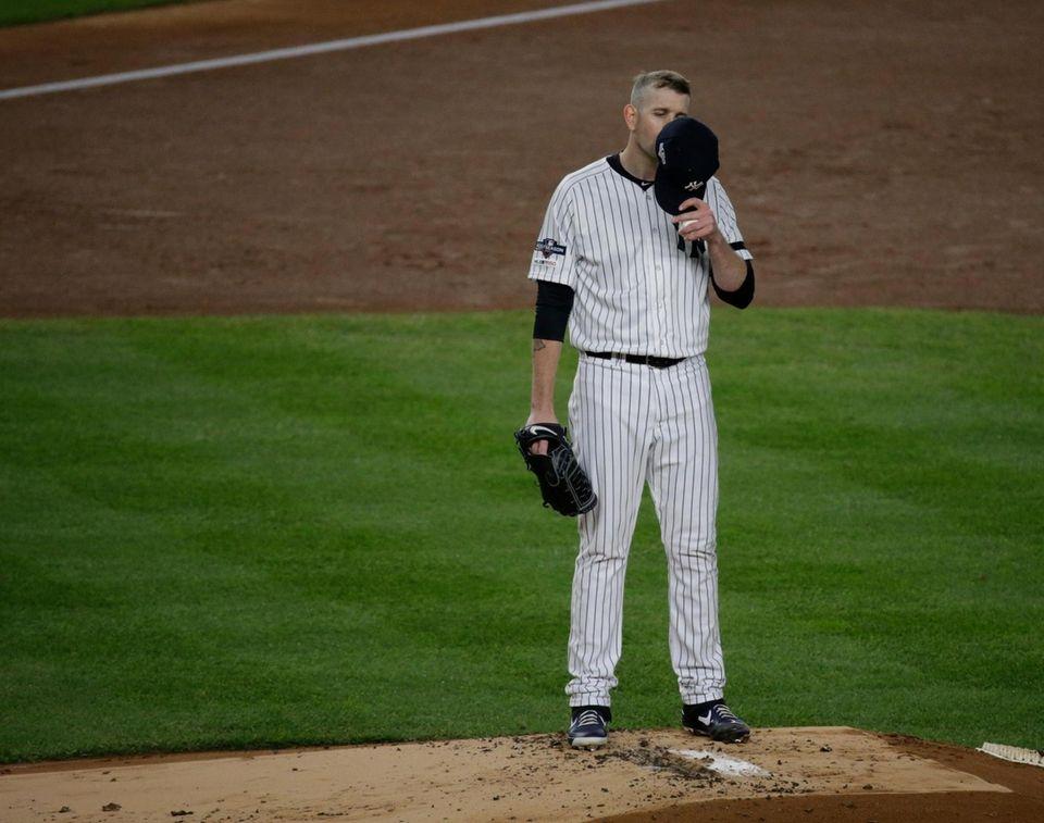 New York Yankees starting pitcher James Paxton (65)