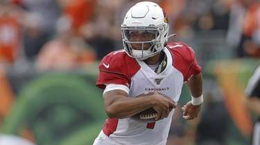 Kyler Murray #1 of the Arizona Cardinals runs