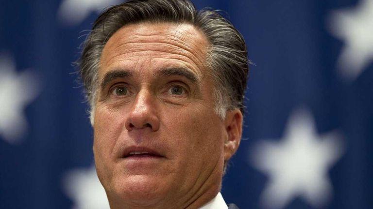 Mitt Romney, the presumed Republican nominee for president,