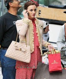 "Actress Leighton Meester on the set of ""Gossip"