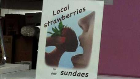 Local strawberries now in sundaes at Snowflake in