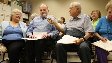 Seniors participate in a creative writing workshop at