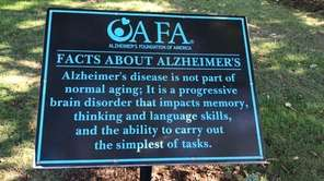 A fundraising walk for the Alzheimer's Foundation of