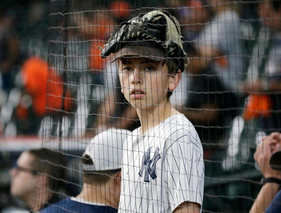 New York Yankees fan Attibus Gibbs age 13