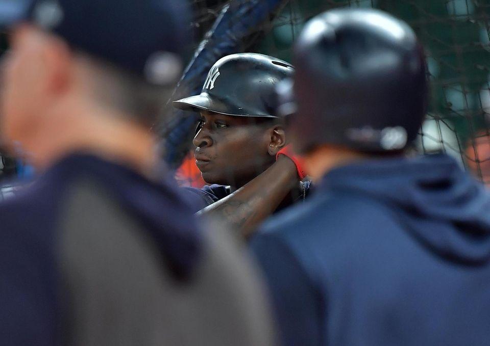 Yankees shortstop Didi Gregorius (18) during batting practice