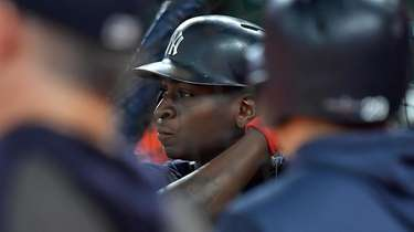 Yankees shortstop Didi Gregorius (18) during batting practice