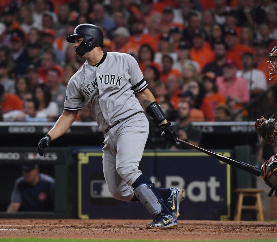 New York Yankees catcher Gary Sanchez (24) with